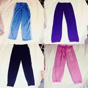 Other - 4️⃣ piece bundle girls large sweatpants